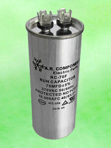 Run Capacitor 70 Mfd 370 Vac Round Can Ul Certified Rc 70f