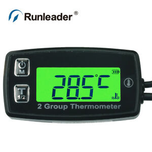 Runleader Tm004 Measuring 2 Groups Temperature Thermometer With Double Temp Sens