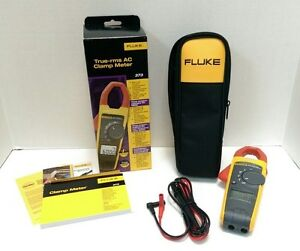 New Fluke 373 True rms Trms Current Clamp Meter 600a 600v Ac dc Ammeter Probe