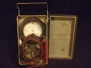 Vintage Rare Stark Electronic Instruments Military Volt Meter Working
