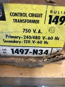 Allen Bradley 1497 n34 Electric Transformer 0 75kva 220 240v
