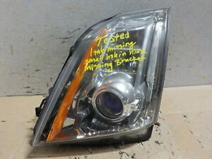 Tested Driver Left Xenon Hid Oem Cadillac Cts 08 09 10 11 12 13 Headlight F2760