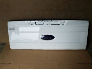 17 18 Ford F250 F350 Super Duty Tailgate With Step Oem White Rear