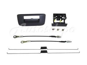 Tailgate Handle Bezel Cable Rod For Silverado New Style 2007 2013 W o Keyhole
