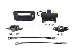 Rear Tailgate Hadle Bezel Cable Latch For Chevy Silverado 2007 2013 With Keyhole