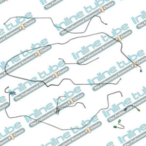 76 80 Camaro Firebird Complete Preformed Manual Disc Brake Line Kit W f41 Ss