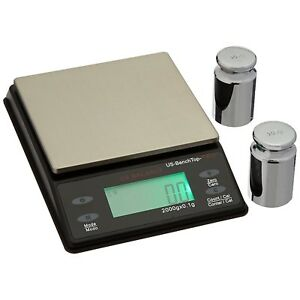 Us Balance Bench Top Pro Parts Counting Scale 2000g X 0 1g Calibration Weights