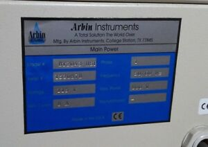 Arbin Instruments Bt 2043 Hsp Main Power Flow Battery Testing System