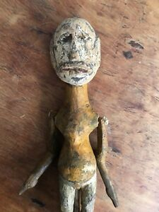 Very Rare Antique Indonesian Single Body Wayang Golek Puppet 19thc Or Earlier
