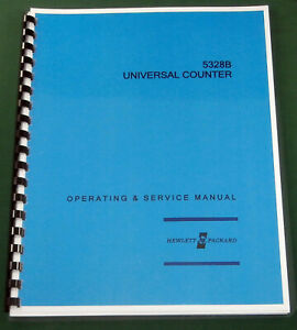 Hp 5328b Operating Service Manual W 11 x17 Foldouts Protective Covers