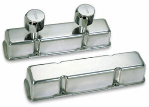 Moroso 68374 Tall Valve Covers Polished Cast Aluminum Sbc Fits Small Block Chevy