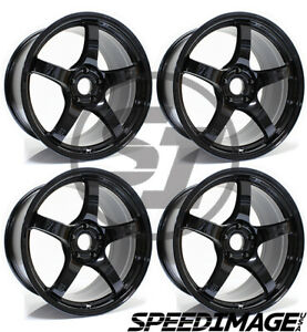 4x Gram Lights 57cr 18x10 5 22 5x114 3 Glossy Black Set Of 4 Wheels Wheel