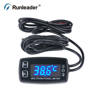 Runleader Hm035lt Led Tach hour Meter Thermometer Temperature Meter For Gasoline