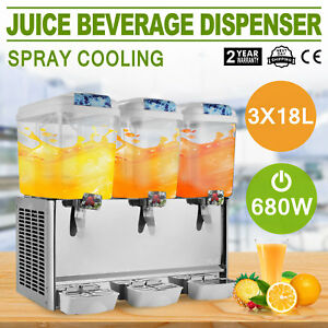 Commercial Beverage Dispenser Drink 14 25 Gallon Juice Tea Cold Ice Yogurt Party