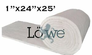 Lowe Industrial Ceramic Fiber Insulation Roll 1 x24 x25 6 Density 2300 f