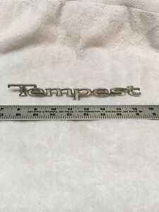 1967 1969 Pontiac Tempest Vintage Oem Chrome Script Emblem Badge Ornament Gm