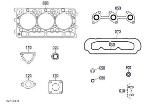 Oem Kubota Diesel Upper Gasket Kit 1g823 99354 Rtv900 And Rtx x900