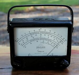 Vintage Simpson Model 389 Series Volt Ohm Multi meter Therm O Meter