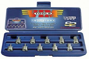 Vim Tools Hct1050 10 Pc 1 2 Cut Torx Bit Socket Set T10 Thru T50