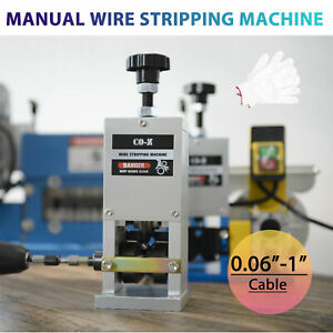 Manual Portable Wire Stripping Machine Scrap Cable Stripper Hand Crank Drill