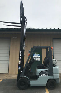 2006 Nissan Propane Forklift Mp1f1a20l Nice 4000lb Lift Only 4486 Hours