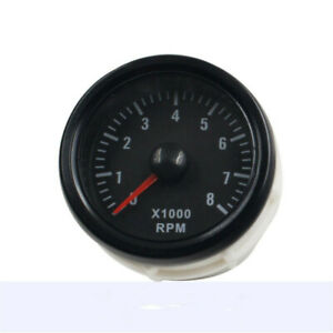New Universal 2 52mm Black Tinted 0 8 X1000 Rpm Car Tacho Gauges Meters