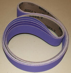 2 X 72 New Premium Purple Ceramic Sanding Belts 50 Grit 5 Belts