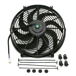 S blade Curved 14 Universal Electric Radiator Cooling Fan W Mounting Kit
