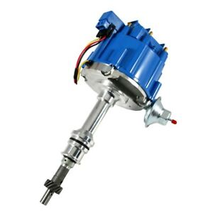 Hei Distributor Blue Cap W 65k Coil One Wire Sbf Small Block Ford 351w Windsor