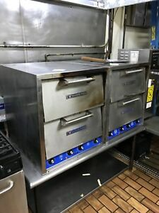 2 Used Bakers Pride Counter Top Pizza Oven With Stand P44 Electric