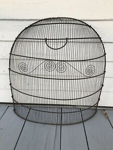 Awesome Federal Antique C 1810 Fireplace Fire Wire Clipped Screen Pretty Fender