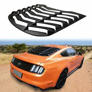 Matte Black Abs Rear Window Louver Cover Sun Shade For Ford Mustang 2015 2019