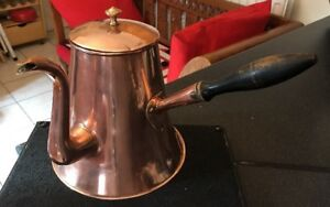 Georgian Victorian Antique English Copper Coffee Chocolate Side Pour Pot C