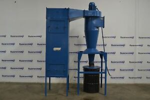 Donaldson Torit 20 5 fb 55 Cyclone Dust Collector W Filtration Unit 5hp