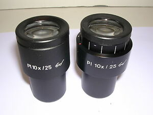 Carl Zeiss Pl 10x Paired Widefield Eyepieces new part No 444034 444033