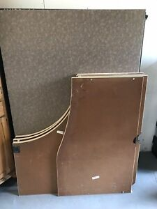 Lot Of Herman Miller Desk Tops Cubicle Walls Panels Glass Panel And Hardware