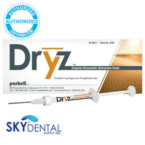 Original Parkell Dryz Hemostatic Retraction Paste S180 S182 authorized Dealer