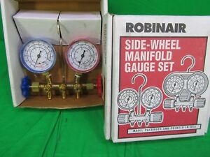 Robinair Side Wheel Manifold Gauge Set 119900 Univ Station Manifold New In Box