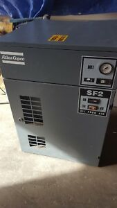 Atlas Copco Sf2 Oil Free Air Compressor With 120 Gallon Tank 69 31 Hrs 145 Psi