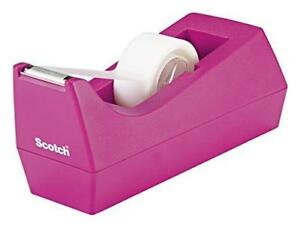 Scotch Classic Desktop Tape Dispenser Pink For 1 inch Core Tapes c 38 p