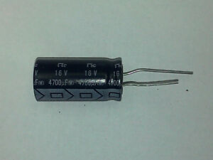 Nic Components 4700 Uf 16 Volt Radial Lead Electrolytic Capacitor usa Seller