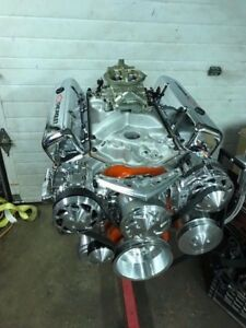 350 Sbc Chevy 425hp Engine Aluminum Heads Hyd Roller March Serpentine Drive 400