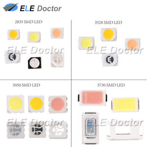100 1000pcs Smd Smt 2835 1210 3528 5050 2020 5730 Led White Red Blue Orange Uv