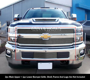 Fits 2015 2018 Chevy Silverado 2500hd 3500hd Billet Grille Combo