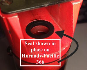 Lot of 6 Pacific Hornady 366 - 266 & Others - Powder SealsShot Bushing Seals