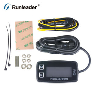 Rl Hm035l Led Tach Hourmeter Tachometer For Motorcycle Motocross Outboard