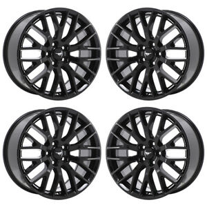 19 Ford Mustang Gt Black Wheels Rims Factory Oem 2017 2018 Set 4 10036 10038