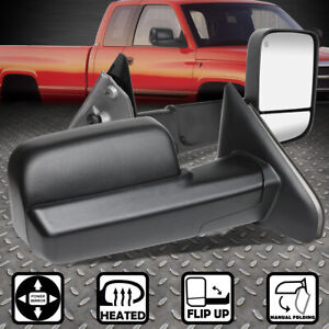 For 02 09 Dodge Ram Pair Powered Adjustment Towing Camper Side Mirrors Heated