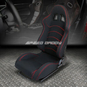 Fully Reclinable Upholstery Sports Racing Seat mounting Slider Driver Left Side