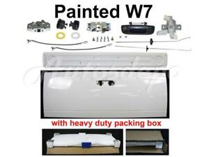 Painted W7 White Tailgate Liner Lock Hardware For Dodge Pickup Ram 2002 2008